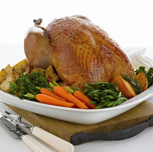 Whole bronze turkey