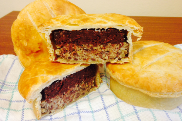 Galloway blaggis pie black pudding and haggis