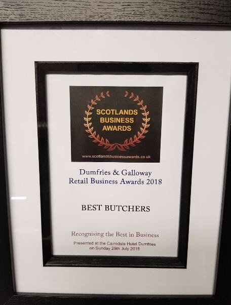 Retail business award for best butchers