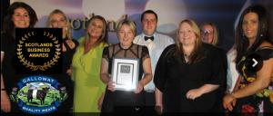 galloway team with award