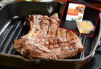 sirloin steak with sauce