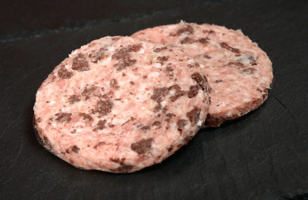 Pork, Apple & Black Pudding Burgers